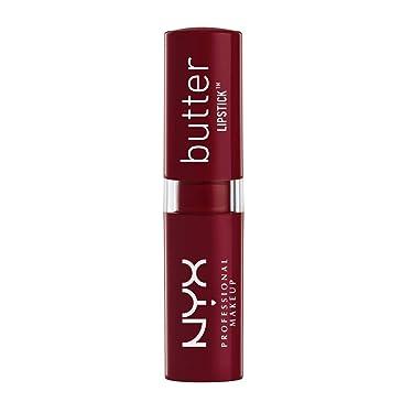 Lápiz labial NYX Cosmetics con acabado satinado y peso neto de 0.16 onzas, BLS11 Licorice