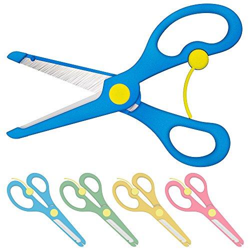 Enid Store Bastelschere Kinder-Schere mit Sicherung | Blau