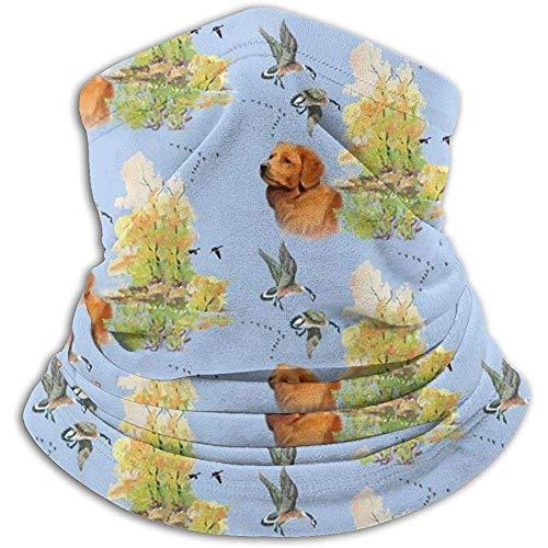 Merle House Calentador de cuello Polaina Pato Toller y gansos Suave microfibra Sombreros Máscara de bufanda facial Para el invierno Clima frío Mantener el calor