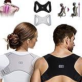 Back Bodyguard Haltungskorrektur - Innovativer Rücken Geradehalter für eine aufrechte Körperhaltung - Rückenstütze - Rückenstabilisator ,Schwarz,S
