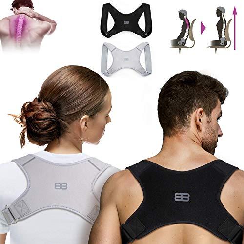 Back Bodyguard Haltungskorrektur - Innovativer Rücken Geradehalter für eine aufrechte Körperhaltung - Rückenstütze - Rückenstabilisator ,Schwarz,M