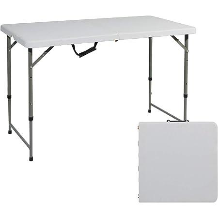 SogesPower Tréteau Pliable Robuste pour Traiteur, Camping, Pique-Nique, Jardin, terrasse, Barbecue, Table de fête HP-122CZ