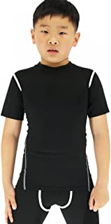 Boy's Compression Shirts Child's Short Sleeve Base Layer Tops
