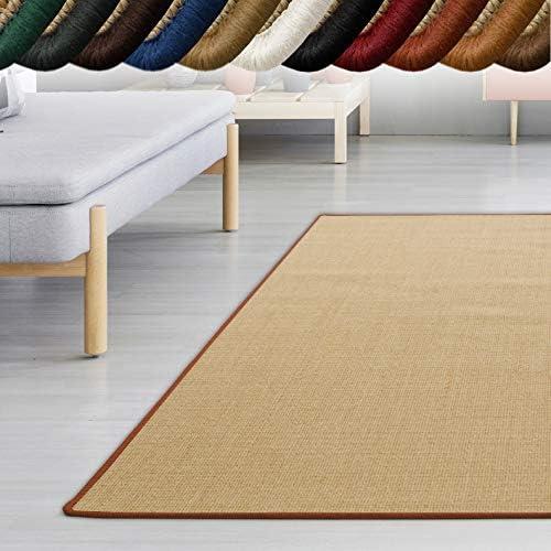 Casa Pura Sisal Teppich Mystyle Viele Größen Mit Umkettelung In Wunschfarbe Für Modernes Und Individuelles Wohnen Beige Umkettelt 200x240 Cm Küche Haushalt