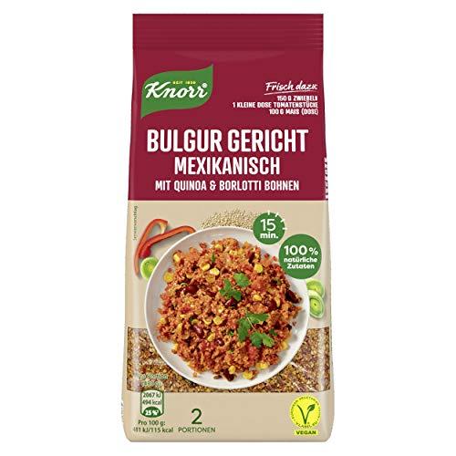Knorr Bulgur Gericht Mexikanisch mit Quinoa & Borlotti Bohnen Beutel, 6er Pack (6 x 150 ml)