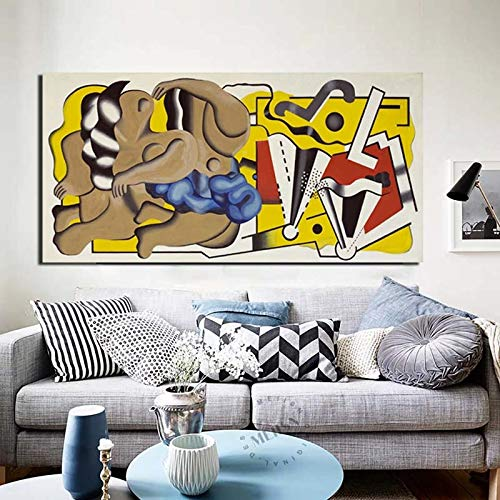 KWzEQ Famoso Pintor Papel Pintado Lienzo Pintura Sala de Estar decoración del hogar Moderno Arte de la Pared Pintura al óleo,Pintura sin Marco,50x100cm