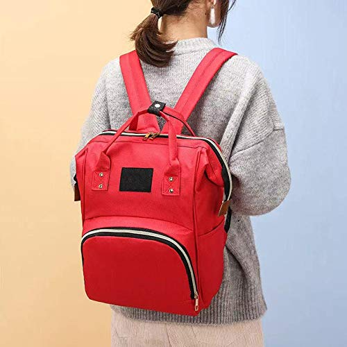 YGWALL Bolsa de bebé de Gran Capacidad, Mochila de Viaje multifunción Bolsas de pañales, Bolsa de enfermería, para niños y niñas Rojo