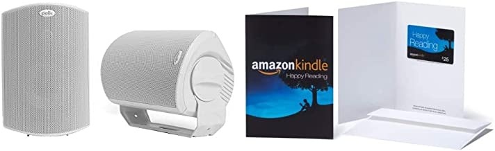 Best Polk Audio Atrium 6 Outdoor Speakers (Pair, White) with Amazon.com $25 Kindle Gift Card in a Greeting Card Review