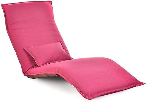 XHCP Stuhl Kompakter Boden Mit Highback, Klappbares Faules Sofa Für Spielmeditation, Vollst ige InsGrößetion (Farbe  Rosa)