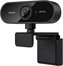 Ribitek 1080P Webcam with Microphone, Drive-Free USB HD Web Camera for Skype, Zoom, FaceTime, Hangouts, PC/Mac/Laptop/MacB...