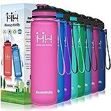 HoneyHolly Botella de Agua Deportiva Sin BPA 650ml/800ml/1 litro/1.5 litro Reutilizables Ecológica Tritan Botellas, Marcador de Tiempo y Impermeable, para Beber Ideal para niños, Gimnasio, Bicicleta