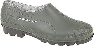 Dunlop Unisex Mens Womens Green Slip On Gardening Low Cut Wellies Shoes Clogs