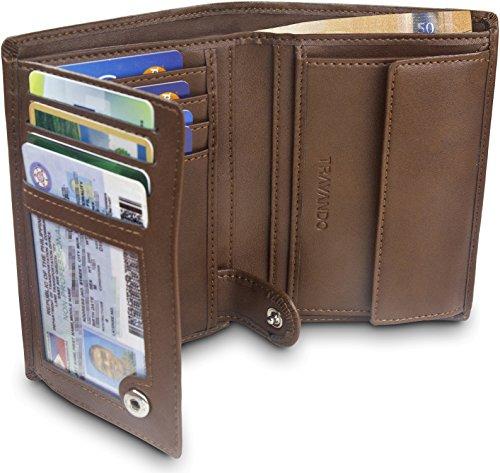TRAVANDO Portafoglio Uomo Dublin con protezione RFID - Porta Carte di Credito con Portamonete in formato Verticale