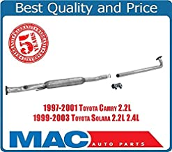Exhaust Extension Pipe Resonator Fits 97-01 Toyota Camry 99-03 Solara 4 Cylinder