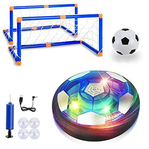 Air Power Fußball Kinderspielzeug ,Hover Ball Leistungsstarke LED Beleuchtung und Schaum Stoßstangen für Indoor Outdoor-Spiele,Spielzeug für Kinder Haustier Jungen und Mädchen Hover Ballspiel Kinder