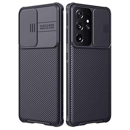 3Ciker New Galaxy S21 Ultra 5G - Cover in silicone con protezione per fotocamera, protezione a 360°, con Slide Camera Cover antiurto in TPU per Samsung Galaxy S21 Ultra 5G (C)