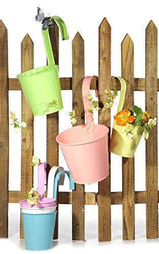 Preis am Stiel 6er Set Übertopf, klein ''Springflower'' | Blumentopf | Hängetopf | Garten | Kübel | Blumen | Frühling | Deko | Sommer | Blumenkasten | Gartendeko | Zaundeko