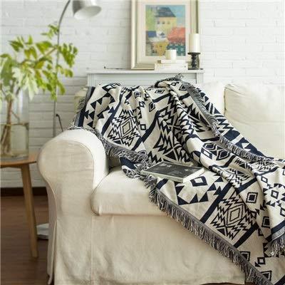 kangzhiyuan Gestrickte Decke Geometrische Sofadecke Decke Bettüberzug Stuhl Sofabezug Strickdecke Reisebett Strickdecke (Farbe: Geometrie, Größe: 90 x 210)