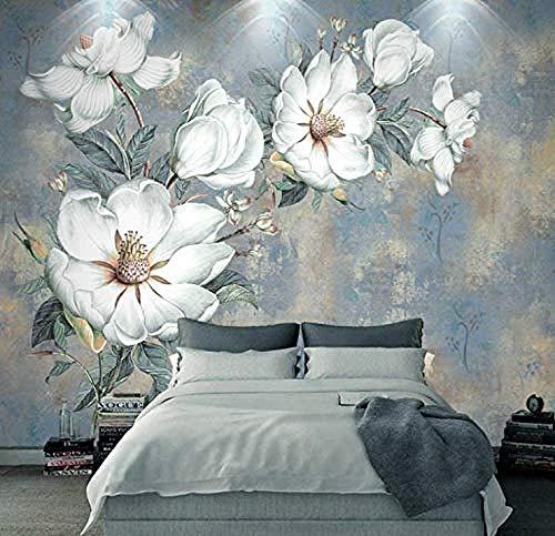 3D Fototapete Vintage Ölgemälde Blumen 400x280cm Non-Woven Wallpaper xxl Modern Wall Decoration Design Wall Decoration Living Room Bedroom Office Hallway