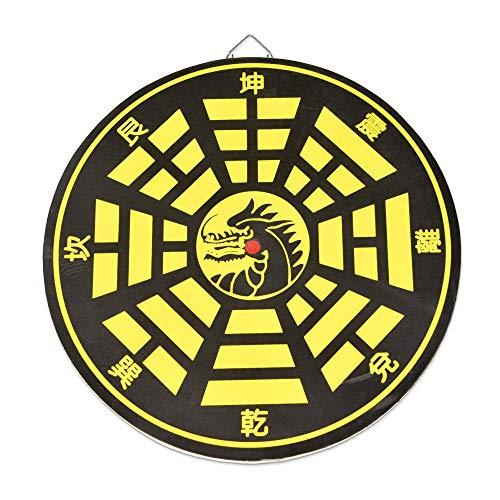 Edelstahl-Kunai, 9er-Set mit Ziel, rutschfester Griff & Scheide, japanische Wurfmesser, Zubehör für Anime-Cosplay, Schwarz (Zielscheibe)
