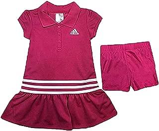 adidas Girl's Athletic 2 Piece Polo Dress Set
