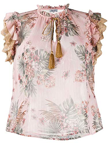 Luxury Fashion | Liu Jo Dames FA0158T4184Z9130 Roze Polyester Blouses | Lente-zomer 20