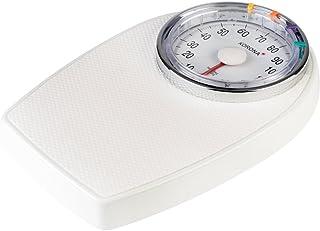 Korona Hugo 76888 - Báscula mecánica para personas de hasta 136 kg, color blanco