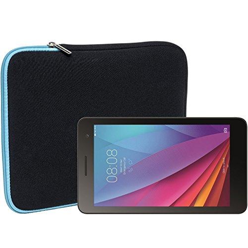 Slabo Tablet Tasche Schutzhülle für Huawei MediaPad T1 7.0 Hülle Etui Case Phablet aus Neopren – TÜRKIS/SCHWARZ