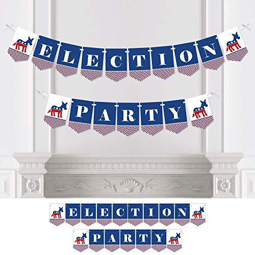 Big Dot of Happiness Election Democrat - Democratic Political 2020 Election Party Bunting Banner - Democrat Party Decorations - Election Party