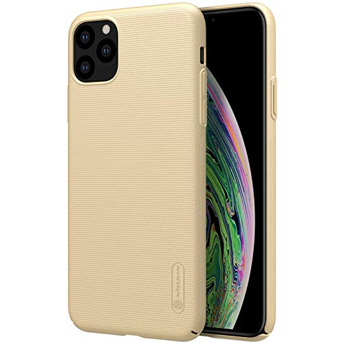 Nillkin Case for Apple iPhone 11 Pro Max (6.5″ Inch) Super Frosted Hard Back Cover PC Without Logo Cut Gold Color