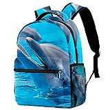 Guarderia Mochila Escolar Delfín de Acuario Linda Mochila para niños, Mini Gracioso Bolsa para la Escuela 29.4x20x40cm