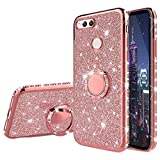 HMTECH Huawei Honor 7X Case Glitter Bling Diamond Plating