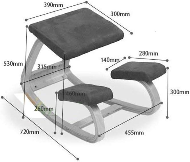 Chaise de fonction de correction d'épine en bois massif, chaise agenouillée, chaise d'apprentissage pour enfants (Couleur : Purple) Blanc
