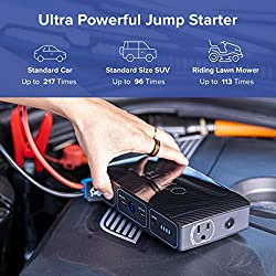 HALO Bolt 58830 mWh Portable Phone Laptop Charger Car Jump Starter with AC Outlet and Car Charger - Rose Gold