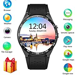 Heart Rate Monitor: LEMFO KW88 Smart Watch Cell Phone comes with high accuracy heart rate sensor, it will help you to know your heart rate status anytime anywhere. Be your own immediate health steward. Enjoy your smart life! Customer can customer can...
