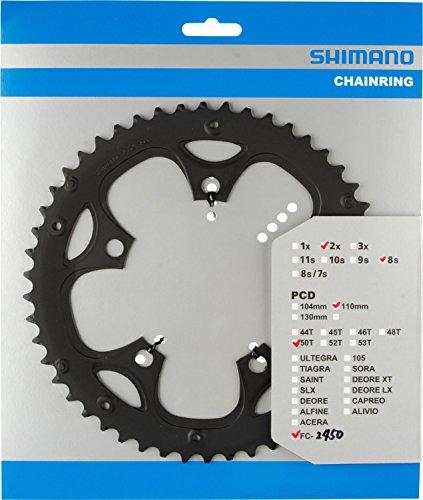 シマノ(SHIMANO) スパイク付チェーンリング 50T-F チェーンガード用 ブラック Y1P298110