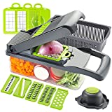 Ourokhome Vegetable Chopper Slicer Dicer - 12-in-1 Fruits Cutter Mandoline Slicer Food Chopper/Cutter
