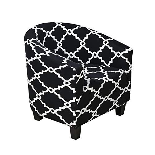 Dake - Funda de silla extensible para silla o sillón, moderna, lavable, funda de sofá de 1 plaza, protector de muebles, color negro