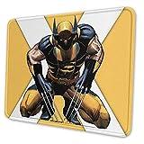 Gjid Mauspad Wolverine mit genähtem Rand, rutschfeste Gummiunterseite, große Mauspads für Laptops und PCs #As534