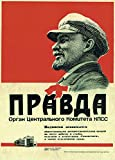 Vintage Russian Soviet Union Propaganda LENIN, PRAVDA c1969