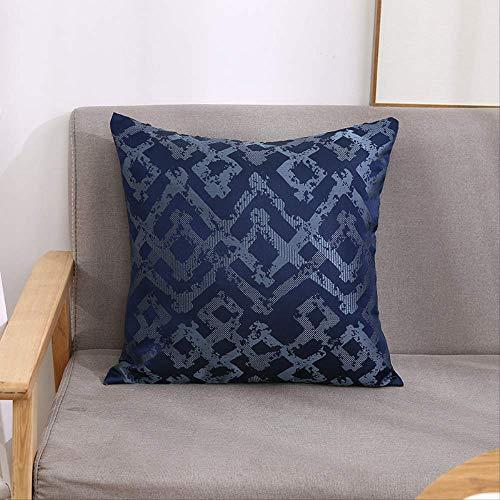 wawale Decoratieve Kussen Nordic stijl eenvoudige geometrische abstracte kussensloop ins wind nachtkastje kussensloop Donkerblauw