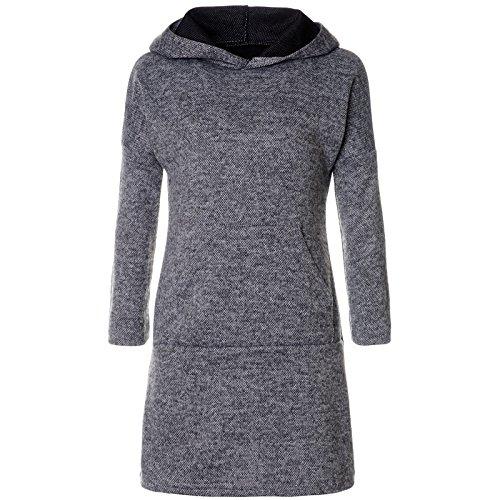 BEZLIT BEZLIT Mädchen Pullover Kleid Long Tunika Langarm Kapuze 21579 Anthrazit Größe 116
