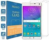PREMYO 2 Stück Panzerglas Schutzglas Bildschirmschutzfolie Folie kompatibel für Samsung Galaxy Note 4 Blasenfrei HD-Klar 9H Gegen Kratzer Fingerabdrücke