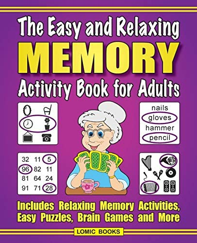 The Easy and Relaxing Memory Activity Book for Adults Includes Relaxing Memory Activities Easy product image