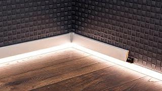 comprar comparacion Canal LED para rodapié LED, opal, 22 x 2500 mm