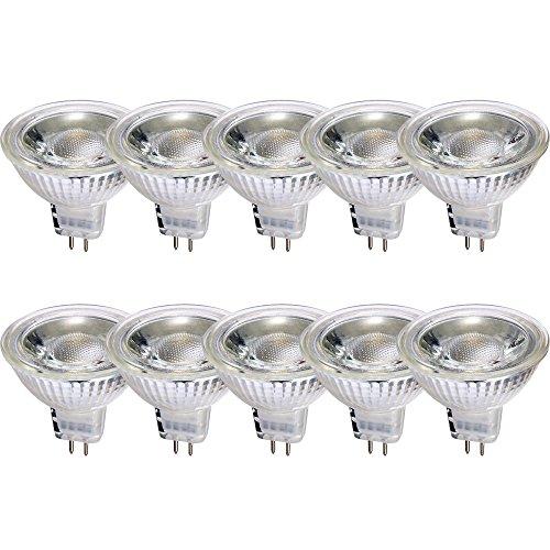 LED Glas Leuchtmittel Reflektor GU5,3 5W = 35W warmweiß 2700K flood 38° DIMMBAR (10 Stück)