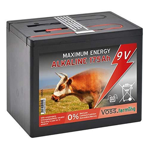 VOSS.farming Pila Grande para Pastor eléctrico 9V Alcalina 175 Ah