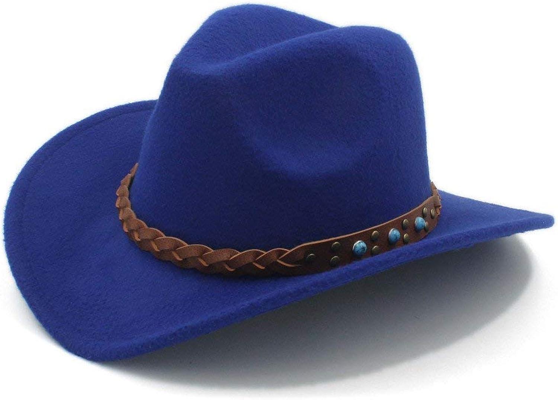 Fashion Warm Comfortable Hats for Women Wool Winter Spring Western Cowboy Hat for Womem Men Wide Brim Cowgirl Jazz Cap