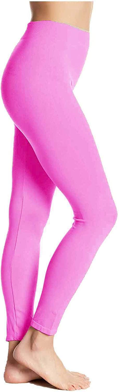 HUE First Looks Seamless Legging/Footless Tights (M/L: (10-12), Tulip Pink)