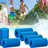 Honoson Pool Filter Sponge Cartridge Swimming Pool Filter Foam Pool Cleaner Foam Replacement Reusable Washable Hot Tub Cleaner Tool Compatible with Intex Type A Cleaning Replacement (Blue,6)